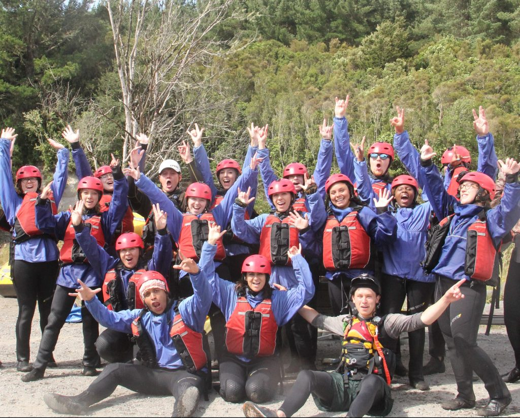 College students from CCSU heading out rafting in New Zealand