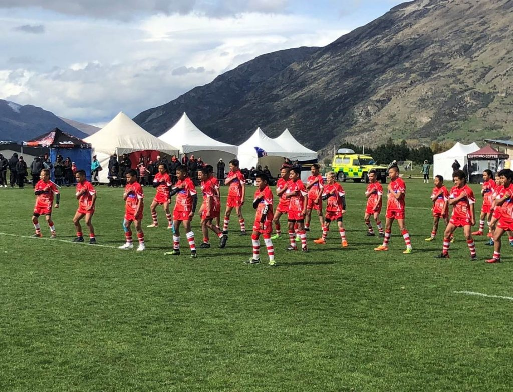 Ravens playing the Global Games NZ Junior Rugby Festival