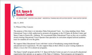 Space camp endorsement