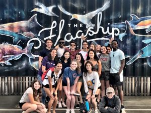 Latin School of Chicago students at The Flagship Education Centre for Sustainable Coastlines